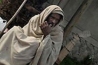 Addis Abeba,Etiopia. Mendicante, beggar