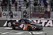 2017 NASCAR Camping World Truck Series - Active Pest Control 200<br /> Atlanta Motor Speedway, Hampton, GA USA<br /> Saturday 4 March 2017<br /> Christopher Bell celebrates his win with a burnout.<br /> World Copyright: Nigel Kinrade/LAT Images<br /> ref: Digital Image 17ATL1nk06649