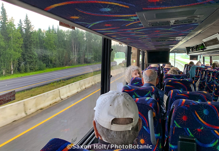 Tigger's tour bus for Pacific Horticulture tour of Alaska