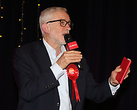 Former Labour Party leader Jeremy Corbyn has been suspended from the party and has had the whip removed after his reaction to an anti-Semitism report. Thursday October 29th 2020<br /> Pictured here as he delivers a speech on the final day of general election campaigning at Addison Howard Centre, Kempston, Bedford, UK on 11th December 2019. <br /> <br /> Photo by Keith Mayhew