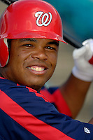 14 March 2006: Daryle Ward, infielder for the Washington Nationals, prepares for batting practice prior to a Spring Training game against the Florida Marlins. The Marlins defeated the Nationals 2-1 at Space Coast Stadium, in Viera Florida...Mandatory Photo Credit: Ed Wolfstein..