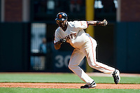 13 April 2008: #14 Fred Lewis of the Giants runs during the San Francisco Giants 7-4 victory over the St. Louis Cardinals at the AT&T Park in San Francisco, CA.