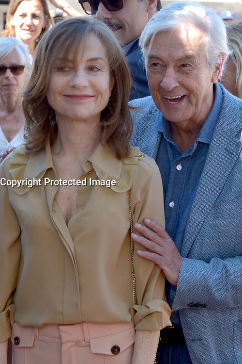 Isabelle HUPPERT attends the 'Elle' Photocall during the 69th annual Cannes Film Festival at the Palais des Festivals on May 21, 2016 in Cannes, France.
