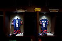 KANSAS CITY, KS - JULY 15: USMNT locker room before a game between Martinique and USMNT at Children's Mercy Park on July 15, 2021 in Kansas City, Kansas.
