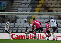 20th April 2021; Deepdale, Preston, Lancashire, England; English Football League Championship Football, Preston North End versus Derby County; Max Bird of Derby County shoots at goal but sees his effort fly high of the Preston crossbar