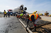 Slab being poured for new Tower crane at Devore Ca. training site.