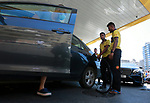 Lebanese drivers queue in front of a petrol station in Beirut, Lebanon, on August 17, 2021, amidst a deepening economic crisis sparking various shortages of basic staples in the country.  Forgeoing face masks, Lebanese flocked to bakeries before dawn fearing shortages and looming price hikes in a country where fuel and medicine are already in critically short supply. The rush followed reports that the government would soon lift fuel subsidies, effectively causing costs to triple, at a time when many live in poverty and businesses can barely stay afloat. Photo by Marwan Bou Haidar