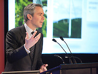 Montreal (QC) Canada,April 30,2007<br /> <br /> Thierry Vandal, president and chief executive officer of Hydro-Quebec<br /> speak about the green future of Hydro-Quebec, the state owned energy provider for Quebec province, ,April 30,2007<br /> <br /> <br /> photo (c) 2007  Pierre Roussel-  Images Distribution
