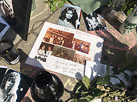 PASADENA, CA - OCTOBER 11: Van Halen fans remember legendary guitarist Edward 'Eddie' Van Halen at his childhood home and stomping grounds in Pasadena, CA. Edward Van Halen passed away on 10/6/20. October 11, 2020. <br /> CAP/MPI/KA<br /> ©KA//Capital Pictures