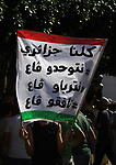 Algerian protesters march in an anti-government demonstration in the capital Algiers on SEPT. 19, 2019. Photo by Taher Boussoualim