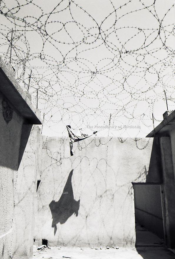 Irak 1991   Prison au quartier général de la sécurité irakienne a Souleimania    Iraq 1991  Jail  in the Iraki intelligence headquarter in Suleimania