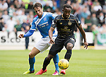 St Johnstone v Celtic…20.08.16..  McDiarmid Park  SPFL<br />Moussa Dembele is closed down by Brad McKay<br />Picture by Graeme Hart.<br />Copyright Perthshire Picture Agency<br />Tel: 01738 623350  Mobile: 07990 594431