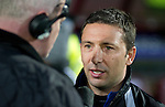 Hearts v St Johnstone....11.01.11  Scottish Cup.Derek McInnes interviewed before kick off.Picture by Graeme Hart..Copyright Perthshire Picture Agency.Tel: 01738 623350  Mobile: 07990 594431