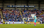 St Johnstone v Lask…26.08.21  McDiarmid Park    Europa Conference League Qualifier<br />Fans in the Ormond Stand<br />Picture by Graeme Hart.<br />Copyright Perthshire Picture Agency<br />Tel: 01738 623350  Mobile: 07990 594431
