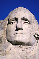 Mount Rushmore National Memorial, sculpture of U.S. President George Washington by Gutzon Borglum.