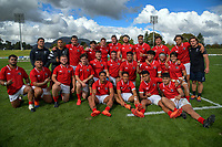 The Barbarians pose for a team photo after the 2021 Bunnings Super Rugby Aotearoa Under-20 rugby match between the Barbarians and Blues at Owen Delaney Park in Taupo, New Zealand on Tuesday, 14 April 2020. Photo: Dave Lintott / lintottphoto.co.nz