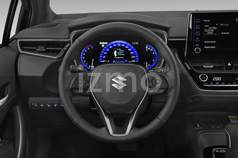 Car pictures of steering wheel view of a 2021 Suzuki Swace GLX 5 Door Wagon Steering Wheel