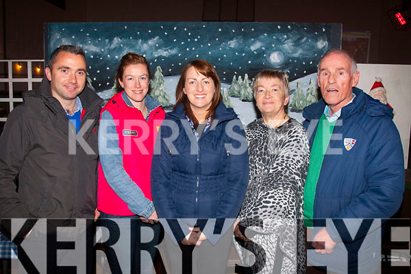 Celebrating<br /> --------------<br /> Attending the 125th anniversary of the founding of Keel GAA club at the Community hall,Keel, last Friday night were,L-R Terry O'Sullivan,Laura O'Shea,Mags Evans with Mary&Jim Foley
