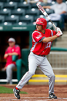 Jerrod Eigsti (27) of the Bradley Braves at bat during a game against the Missouri State Bears on May 13, 2011 at Hammons Field in Springfield, Missouri.  Photo By David Welker/Four Seam Images