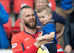 St Johnstone v Ross County…12.05.18…  McDiarmid Park    SPFL<br />Alan Mannus and son Mason<br />Picture by Graeme Hart. <br />Copyright Perthshire Picture Agency<br />Tel: 01738 623350  Mobile: 07990 594431
