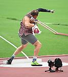 Greg Stewart, Tokyo 2020 - Para Athletics // Para-athlétisme.<br /> Greg Stewart competes in the Men's Shot Put - F46 Final // Greg Stewart participe au lancer du poids masculin - Finale F46. 08/31/2021.