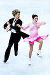 Meryl Davis and Charlie White of USA compete in the Figure Skating Team Ice Dance Short Program during the 2014 Sochi Olympic Winter Games at Iceberg Skating Palace on February 8, 2014 in Sochi, Russia. Photo by Victor Fraile / Power Sport Images