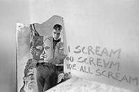 - Milan, young people in the illegally occuped house of Dateo square (February 1988)<br /> <br /> - Milano, giovani nella casa occupata abusivamente in piazzale Dateo (febbraio 1988)