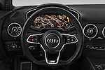 Car pictures of steering wheel view of a 2015 Audi TT Coupe S Line 3 Door Coupe Steering Wheel