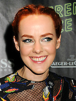 NEW YORK CITY, NY, USA - OCTOBER 04: Jena Malone arrives at the 52nd New York Film Festival - 'Inherent Vice' Centerpiece Gala Presentation & World Premiere held at Alice Tully Hall on October 4, 2014 in New York City, New York, United States. (Photo by Celebrity Monitor)
