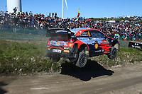 23rd May 2021; Felgueiras, Porto, Portugal; WRC Rally of Portugal, stages SS16-SS20;  Dani Sordo-Hyundai i20WRC