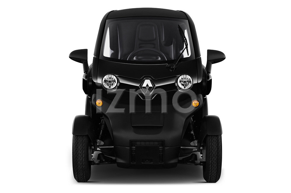 Car photography straight front view of a 2018 Renault Twizy Cargo 3 Door Hatchback