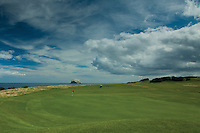 Glen Golf Course and Bass Rock from North Berwick, East Lothian