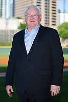 Minor League Baseball President Pat O'Conner poses for a photo prior to the International League game between the Toledo Mud Hens and the Charlotte Knights at BB&T BallPark on April 23, 2019 in Charlotte, North Carolina. The Knights defeated the Mud Hens 11-9 in 10 innings. (Brian Westerholt/Four Seam Images)