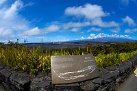 Mauna Loa volcano and Kilauea crater viewed from the Volcano House Hawaii, USA Volcanoes National Park, Kilauea Volcano, Big Island, Hawaii, USA
