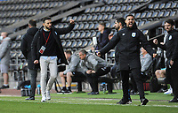 Huddersfield Town manager Carlos Corberán celebrates at the final whistle<br /> <br /> Photographer Ian Cook/CameraSport<br /> <br /> The EFL Sky Bet Championship - Swansea City v Huddersfield Town - Saturday 17th October 2020 - Liberty Stadium - Swansea<br /> <br /> World Copyright © 2020 CameraSport. All rights reserved. 43 Linden Ave. Countesthorpe. Leicester. England. LE8 5PG - Tel: +44 (0) 116 277 4147 - admin@camerasport.com - www.camerasport.com