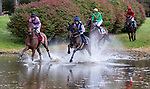 October 23, 2021: The field for the Steeplethon Stakes takes a practice lap before the race on VA Gold Cup Day in The Plains, V.A. on October 23rd, 2021. Tim Sudduth/Eclipse Sportswire/CSM