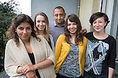 Katalin Barsony, Sinziana Marin and other staff members, Romedia, Budapest, Hungary.