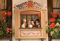 """Europe/France/Rhône-Alpes/69/Rhône/Lyon:Théâtre de  Guignol décoration  du restaurant """"Le Vivarais""""1 pl de Dr Gailleton [Non destiné à un usage publicitaire - Not intended for an advertising use]"""