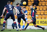 St Johnstone v Ross County…..29.12.19   McDiarmid Park   SPFL<br />Matty Kennedy's shot is blocked<br />Picture by Graeme Hart.<br />Copyright Perthshire Picture Agency<br />Tel: 01738 623350  Mobile: 07990 594431