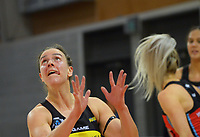 Pulse's Claire Kersten runs to receive a pass during the ANZ Premiership netball match between Central Pulse and Mainland Tactix at Te Rauparaha Arena in Wellington, New Zealand on Friday, 9 July 2021. Photo: Dave Lintott / lintottphoto.co.nz
