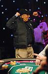 Jyries Awad celebrates winning a big hand.