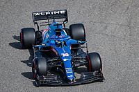 26th March 2021; Sakhir, Bahrain; F1 Grand Prix of Bahrain, Free Practice sessions;  14 ALONSO Fernando (spa), Alpine F1 A521 during Formula 1 Gulf Air Bahrain Grand Prix 2021