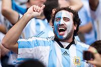 An Argentina fan shouting