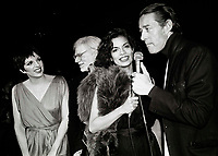 Minelli Warhol Jagger Halston6860.JPG<br /> New York, NY 1978 FILE PHOTO<br /> Liza Minelli, Andy Warhol, Bianca Jagger, Halston<br /> Studio 54<br /> Digital photo by Adam Scull-PHOTOlink.net<br /> ONE TIME REPRODUCTION RIGHTS ONLY<br /> NO WEBSITE USE WITHOUT AGREEMENT<br /> 718-487-4334-OFFICE  718-374-3733-FAX
