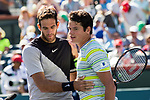 March 17, 2018: Juan Martin Del Potro (ARG) defeated Milos Raonic (CAN) 6-2, 6-3 in the Semifinals of the BNP Paribas Open at the Indian Wells Tennis Garden in Indian Wells, California. ©Mal Taam/TennisClix/CSM