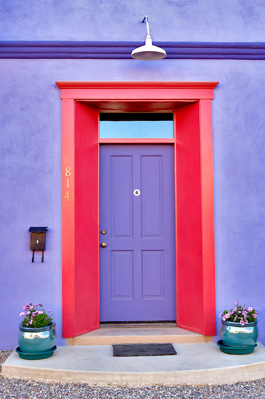 House door with mailbox. Tucson. Arizona