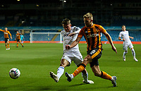 Leeds United's Jamie Shackleton battles with Hull City's Daniel Batty<br /> <br /> Photographer Alex Dodd/CameraSport<br /> <br /> Carabao Cup Second Round Northern Section - Leeds United v Hull City -  Wednesday 16th September 2020 - Elland Road - Leeds<br />  <br /> World Copyright © 2020 CameraSport. All rights reserved. 43 Linden Ave. Countesthorpe. Leicester. England. LE8 5PG - Tel: +44 (0) 116 277 4147 - admin@camerasport.com - www.camerasport.com