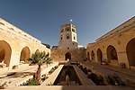 Jerusalem, Israel, Rockefeller Museum in East Jerusalem. The central courtyard was inspired by the 14th century Alhambra Palace in Granada, Spain<br />