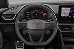 Car pictures of steering wheel view of a 2021 Cupra Leon - 5 Door Hatchback Steering Wheel