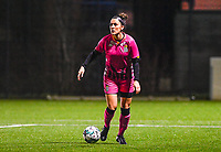 Madison Hudson (8) of Sporting Charleroi pictured during a female soccer game between Sporting Charleroi and SV Zulte-Waregem on the 12 th matchday of the 2020 - 2021 season of Belgian Scooore Womens Super League , friday 29 th of January 2021  in Marcinelle , Belgium . PHOTO SPORTPIX.BE | SPP | DAVID CATRY